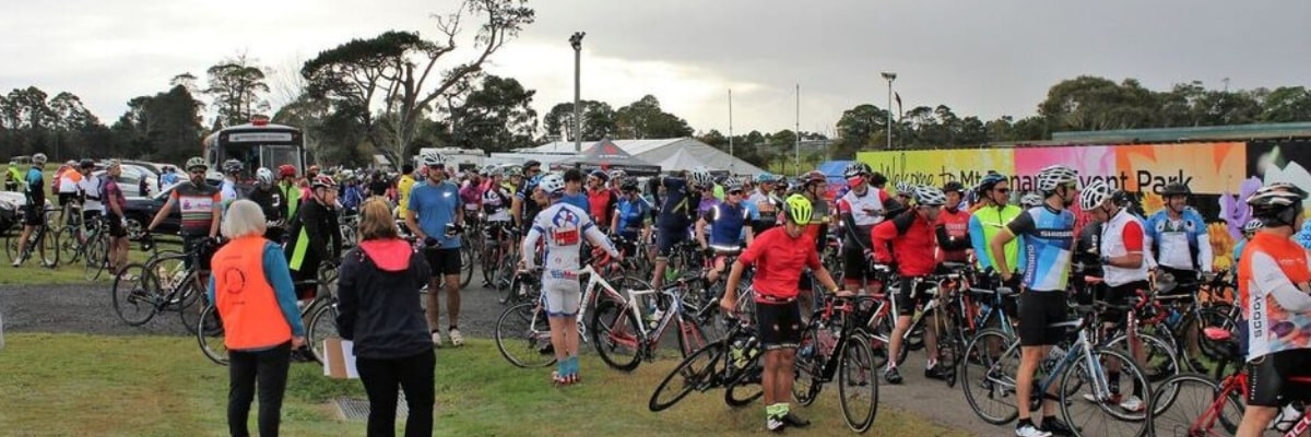 riders from the Central Coast Century Challenge Cycle ride
