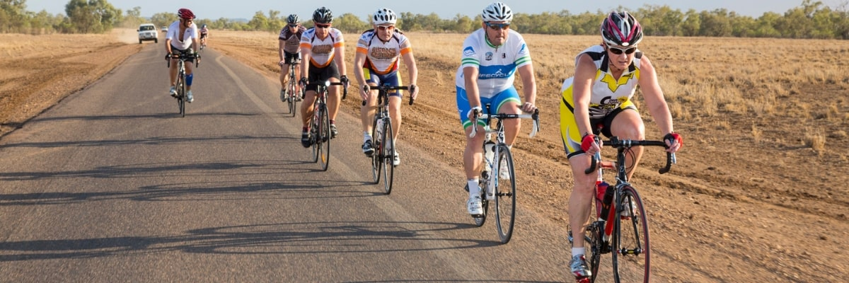riders at the Outback Century Cycle Challenge
