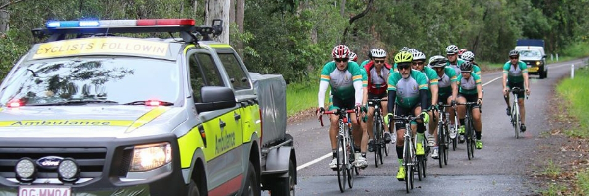 riders from the Pedal4Paramedics Challenge