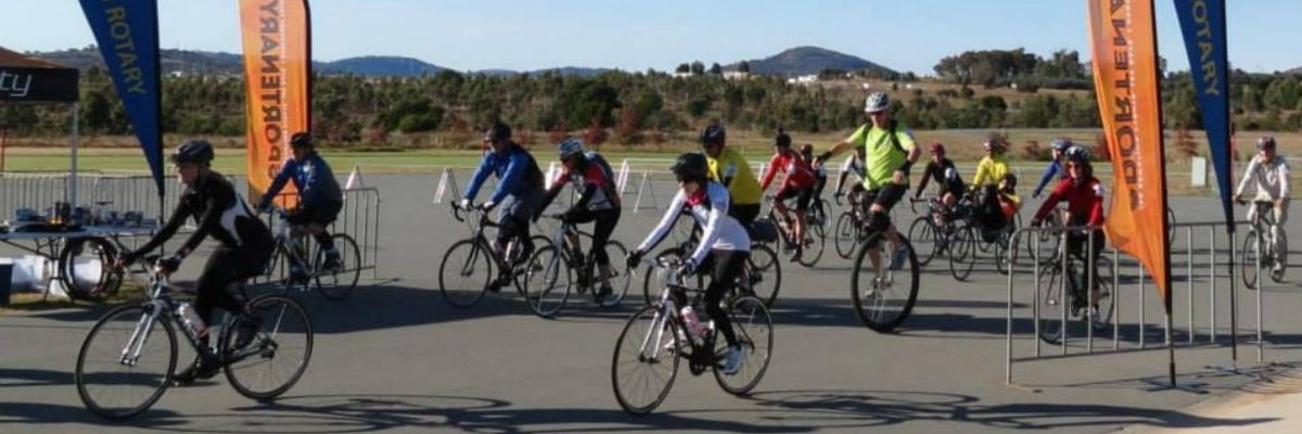 riders from the Rotary Rides Canberra Five Peaks Challenge
