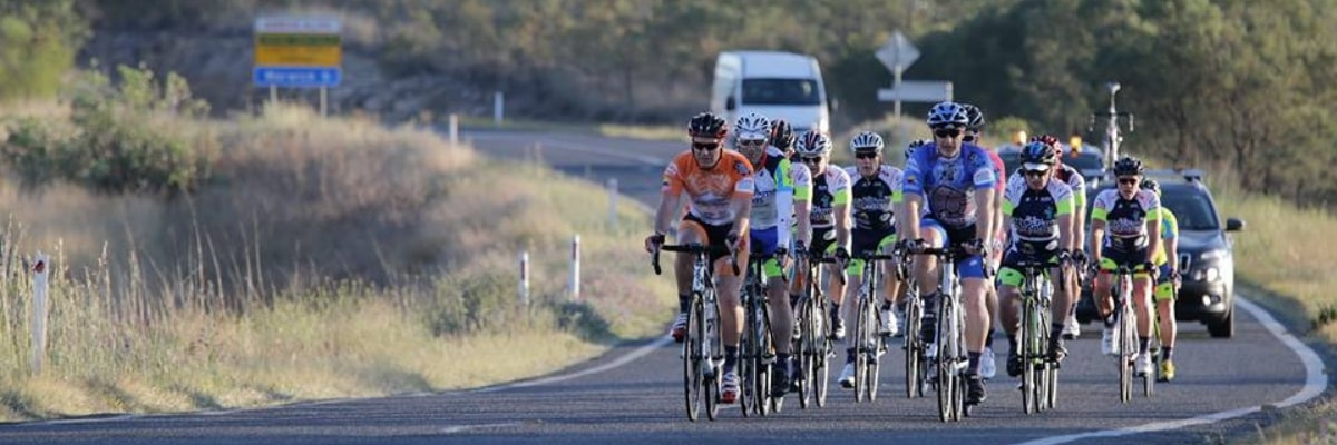 riders from the 1200 kms for Kids